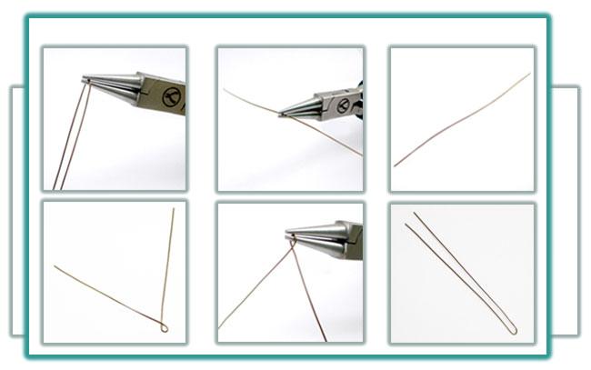 آموزش ساخت گوشواره سیمی لانه پرنده6