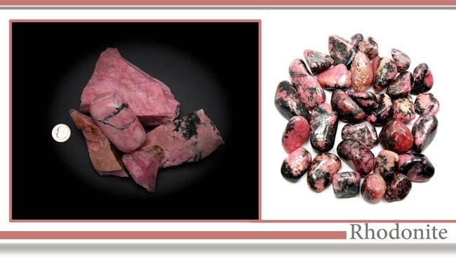 سنگها رودونیت (Rhodonite)