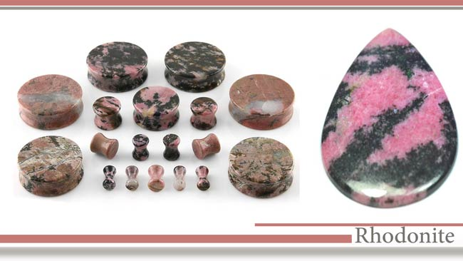 جواهرات رودونیت (Rhodonite)