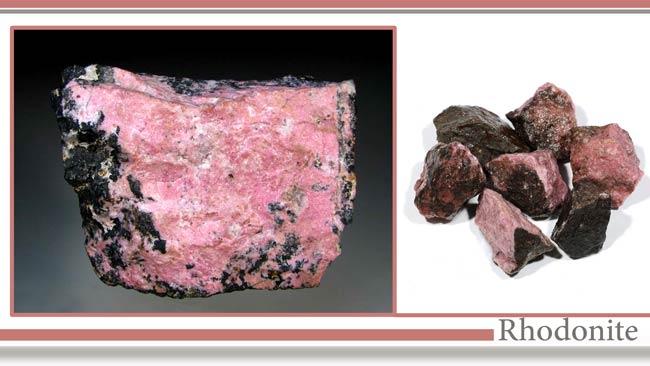 شناسایی رودونیت (Rhodonite)
