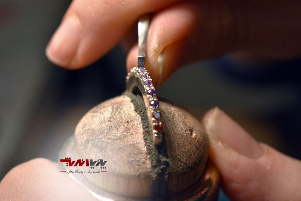 ساخت انگشتر در کلاس جواهرسازی