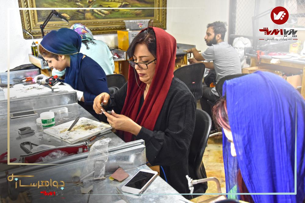 هنرجویان آموزش ساخت زیورآلات