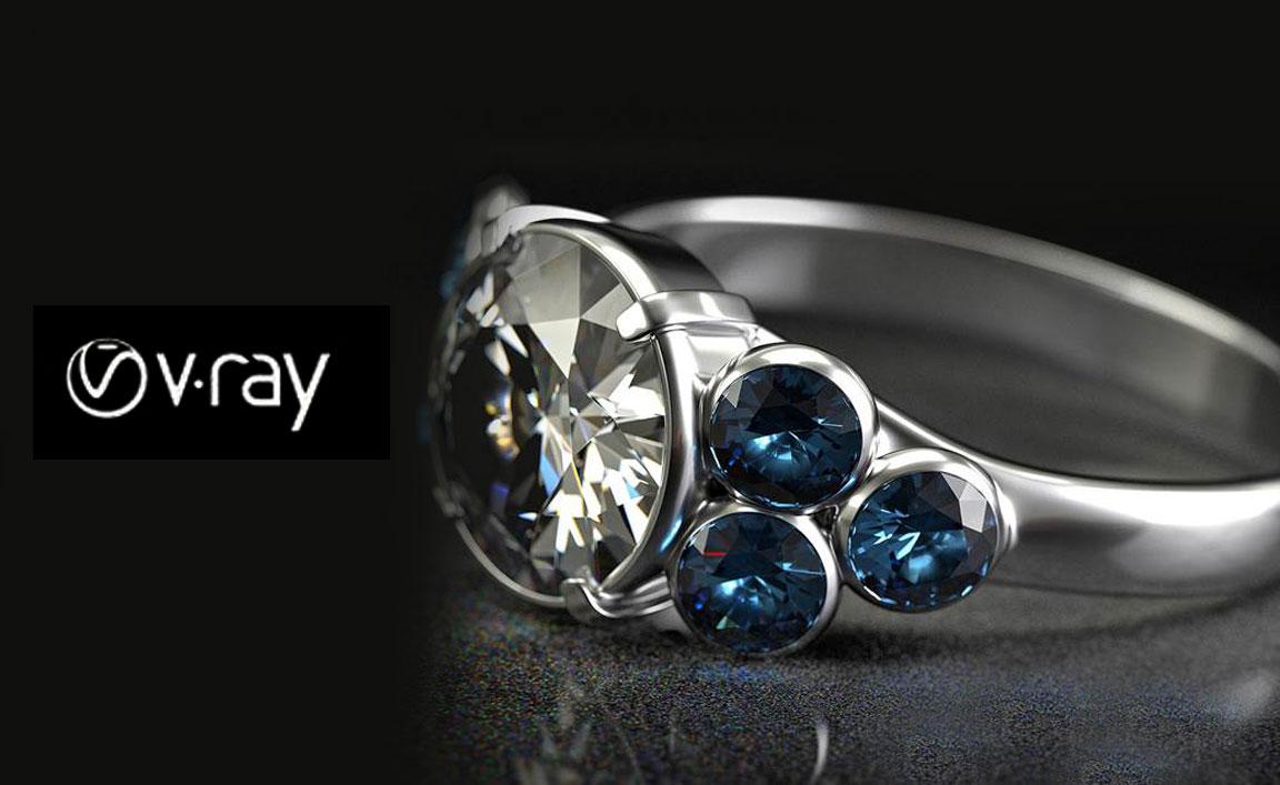 طراحی جواهرات v_ray